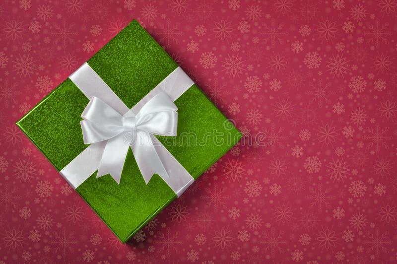 Contenitore di regalo verde illustrazione vettoriale