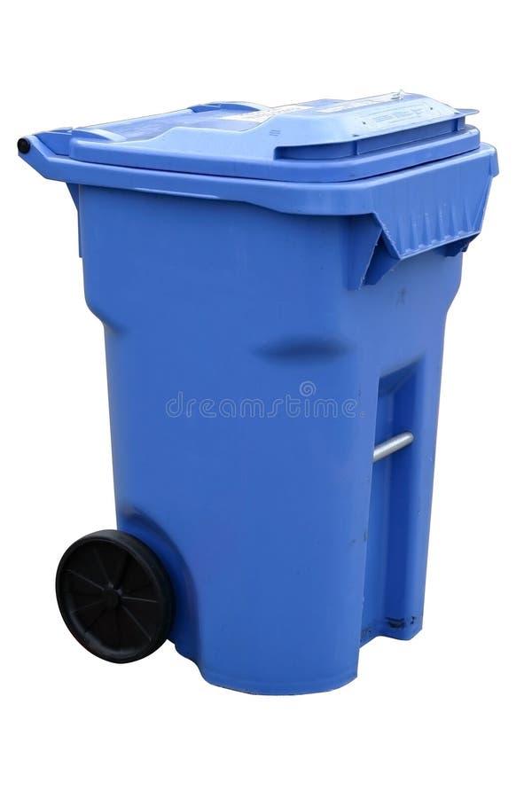 Contenitore di riciclaggio blu immagine stock