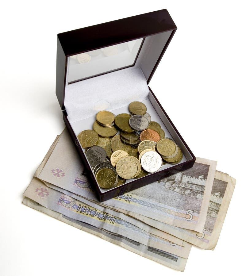 Contenitore di soldi 1 immagine stock libera da diritti