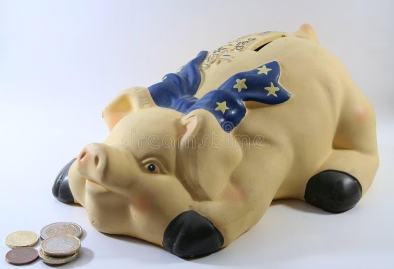 Contenitore di soldi del maiale fotografia stock libera da diritti