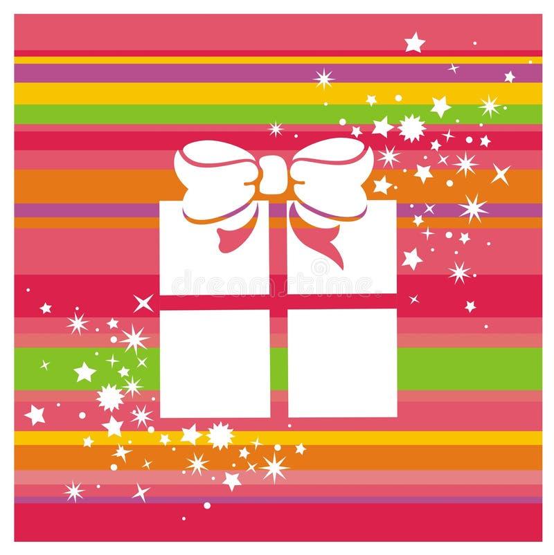 Contenitore e stelle di regalo immagini stock