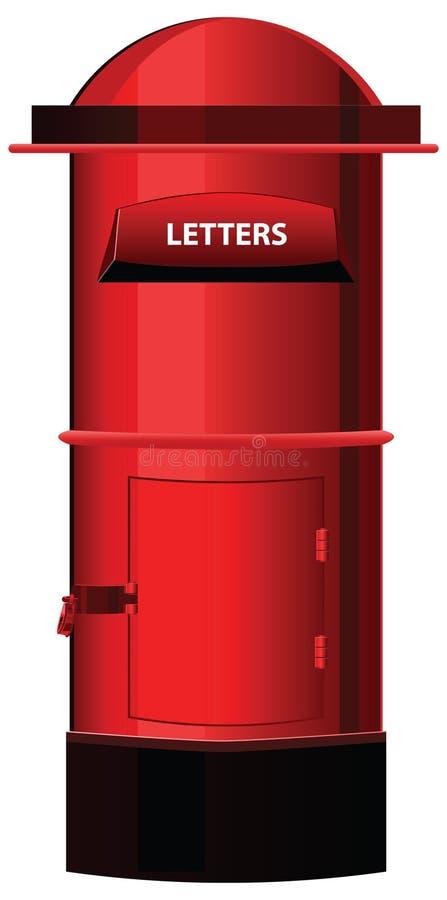 Contenitore o cassetta della posta di posta illustrazione di stock