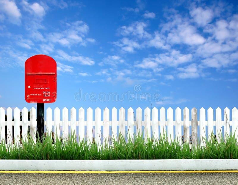 Contenitore rosso di alberino fotografie stock