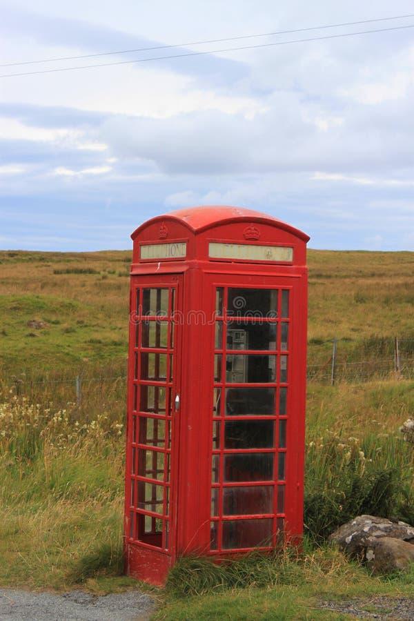 Contenitore rosso di telefono immagine stock