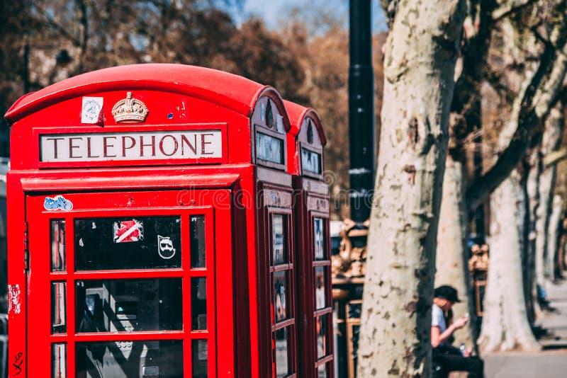 Contenitore rosso di telefono di Londra fotografia stock