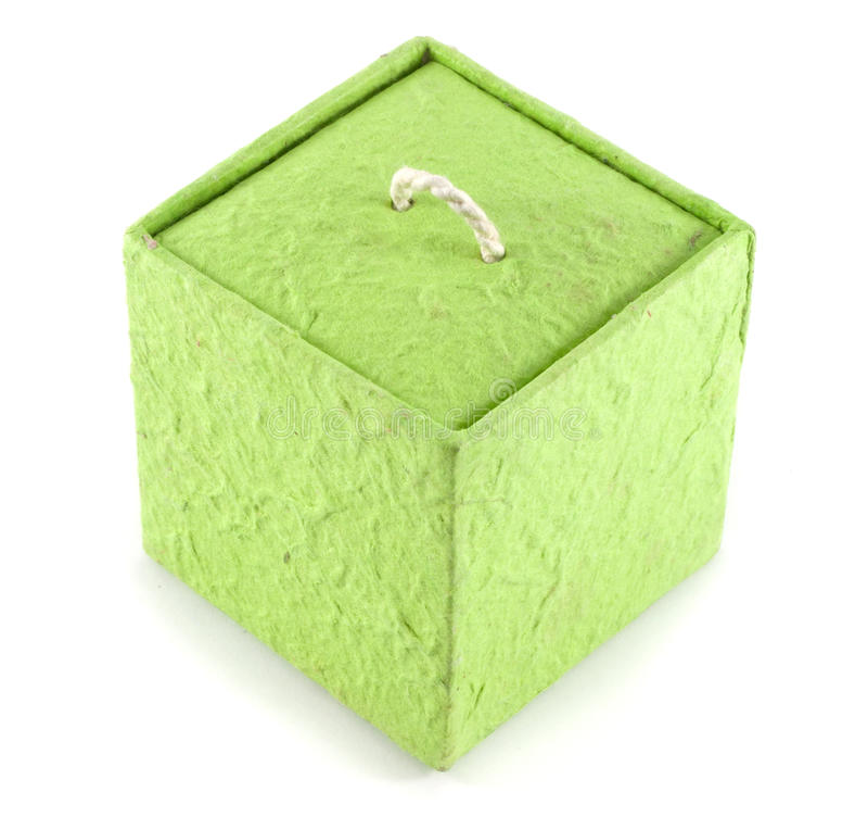 Contenitore verde di carta di gelso fotografia stock libera da diritti