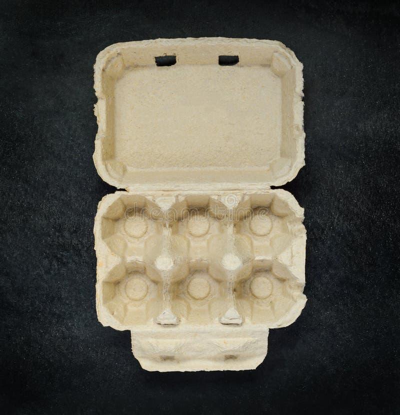 Contenitore vuoto di cartone dell'uovo fotografie stock libere da diritti