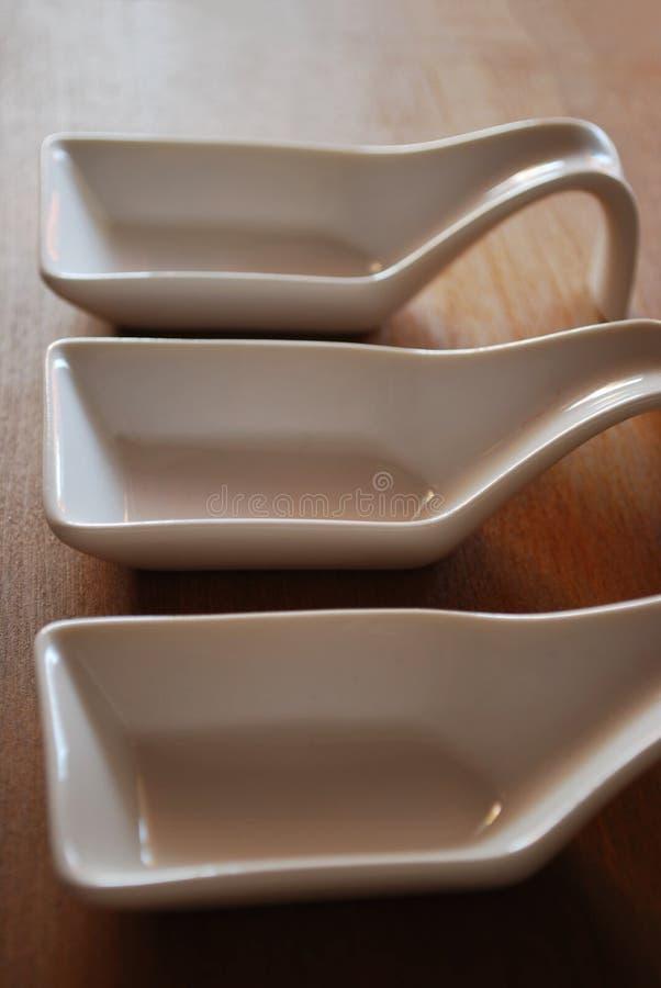 Contenitori di alimento di ceramica immagini stock libere da diritti