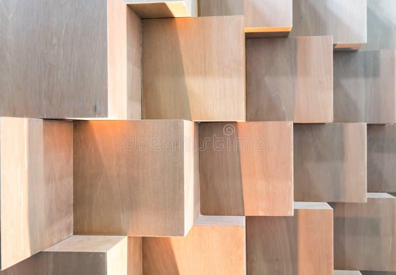 Cubi Contenitori Da Parete.Contenitori Di Legno Di Cubo Che Creano Parete Geometrica Astratta