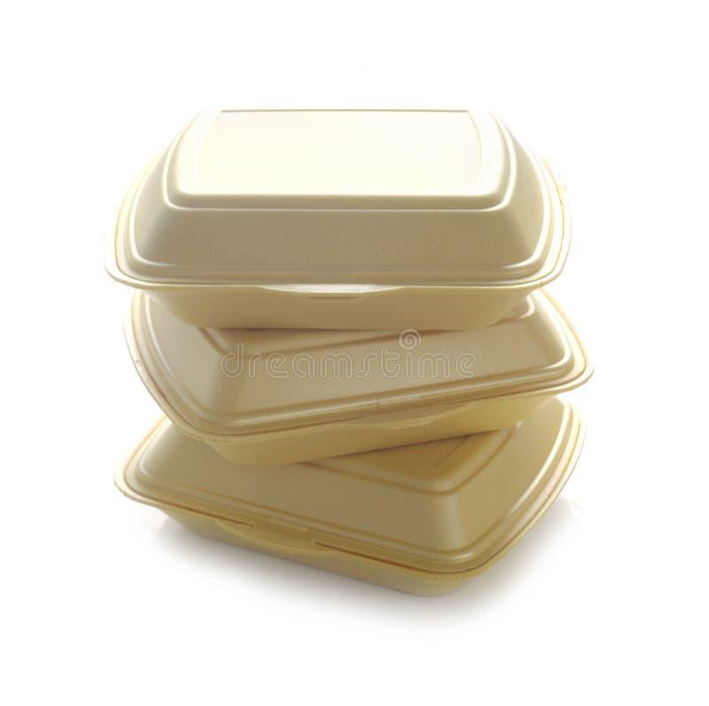 Contenitori Di Prodotti Alimentari Styrofoam fotografia stock
