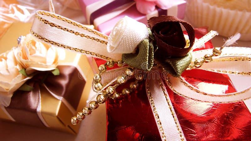 Contenitori di regalo fotografia stock