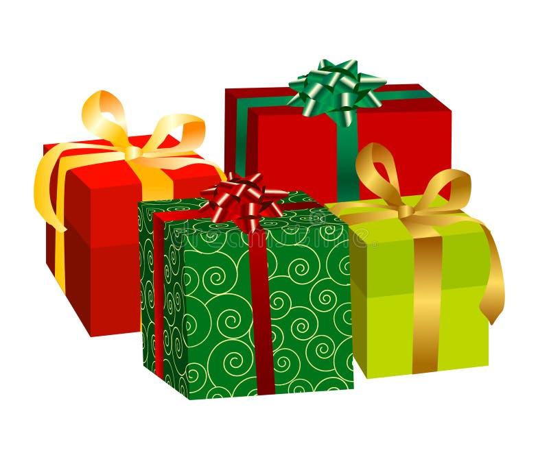Download Contenitori di regalo illustrazione vettoriale. Illustrazione di arco - 7305511