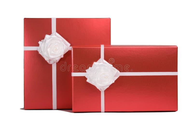 Contenitori di regalo fotografie stock libere da diritti