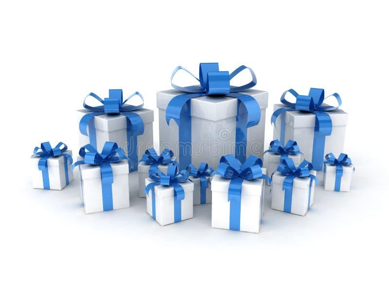 Contenitori di regalo avvolti illustrazione vettoriale
