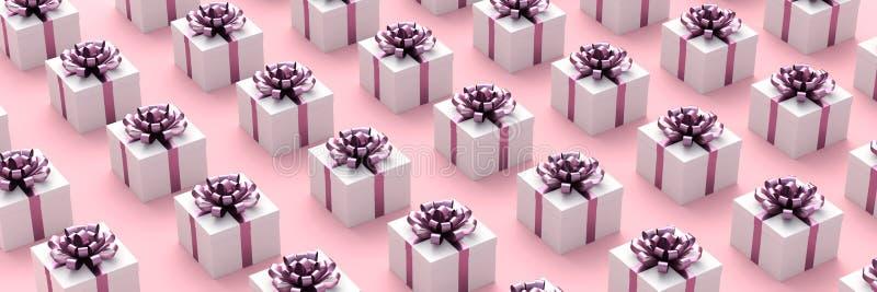 Contenitori di regalo bianchi illustrazione vettoriale