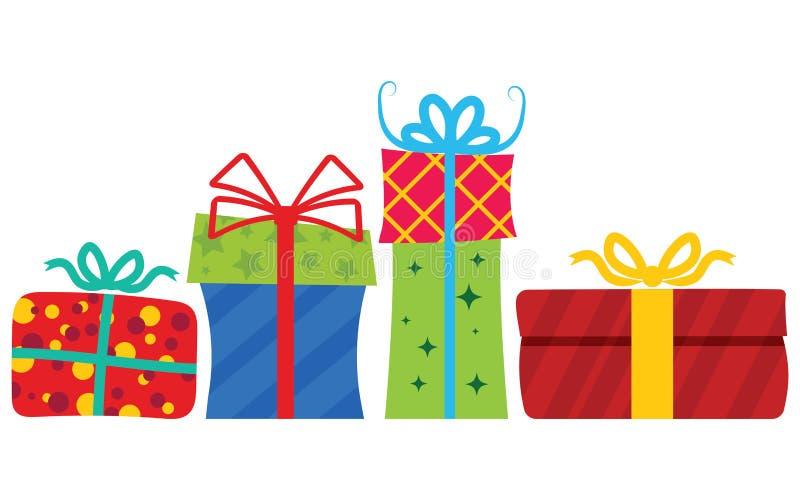 Contenitori di regalo con il nastro illustrazione di stock