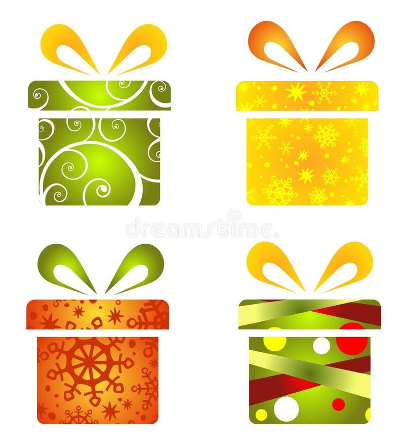 Contenitori di regalo impostati illustrazione di stock