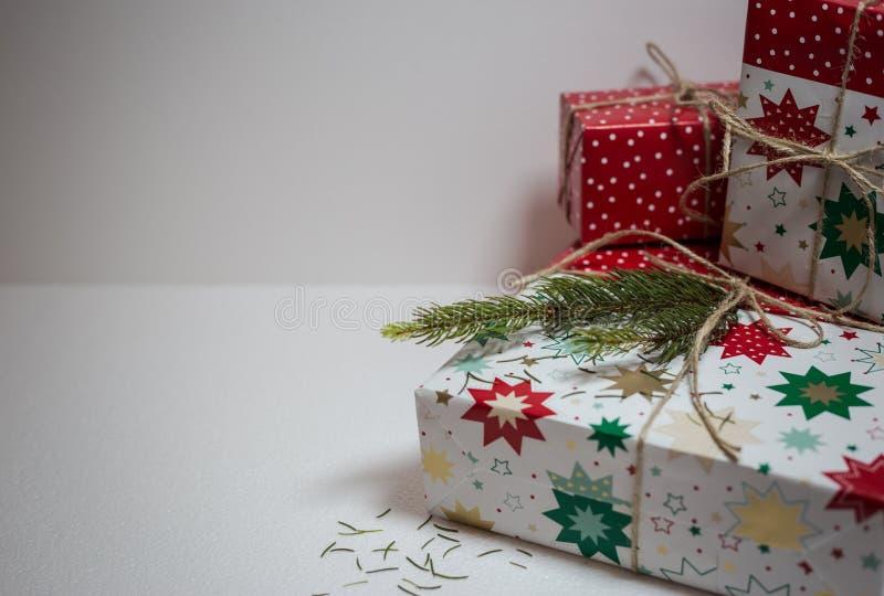 Contenitori di regalo di Natale fotografie stock libere da diritti
