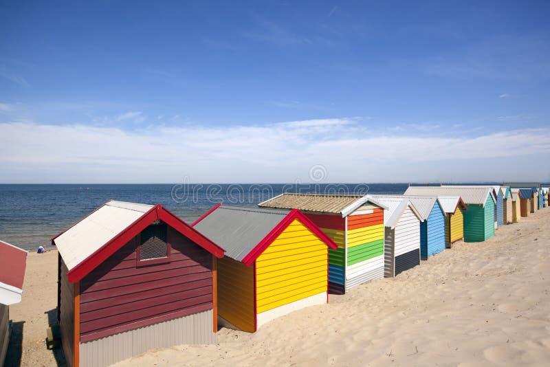 Contenitori di spiaggia di Melbourne fotografie stock libere da diritti