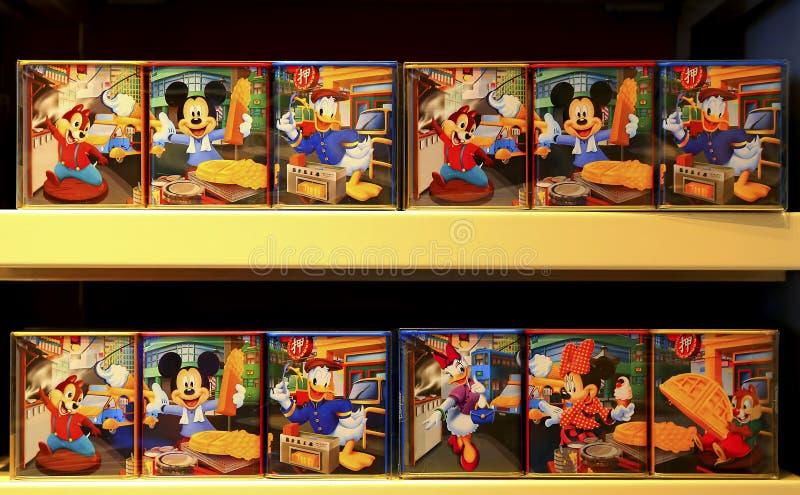 Contenitori di spuntino di tema di Disney immagine stock
