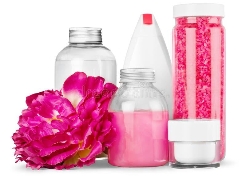 Download Contenitori E Fiore Cosmetici, Vista Del Primo Piano Immagine Stock - Immagine di latte, igiene: 117977751