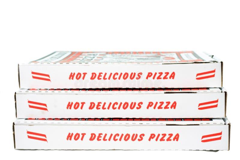 Contenitori impilati di pizza immagini stock libere da diritti