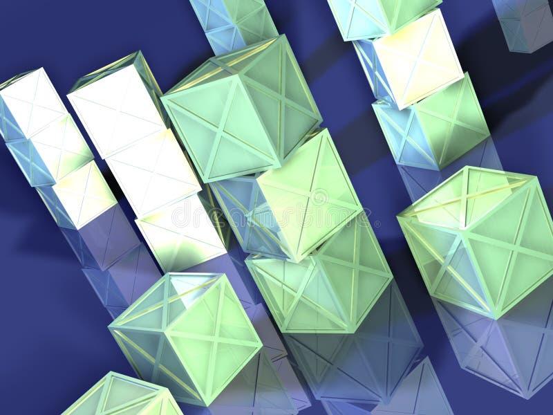 Contenitori verdi di metallo illustrazione vettoriale