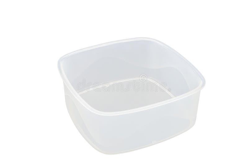 Contenitori vuoti per alimento isolato su fondo bianco fotografie stock