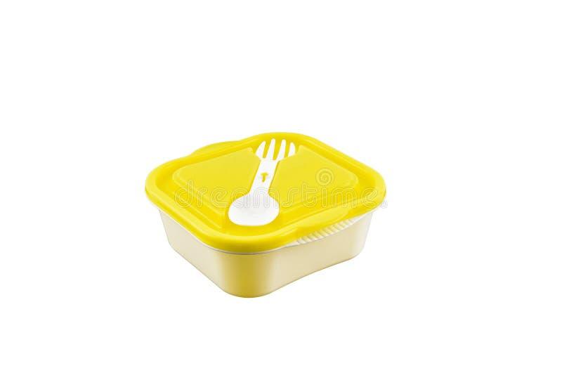 Contenitori vuoti per alimento isolato su fondo bianco fotografia stock libera da diritti