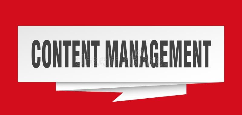 content administration royaltyfri illustrationer