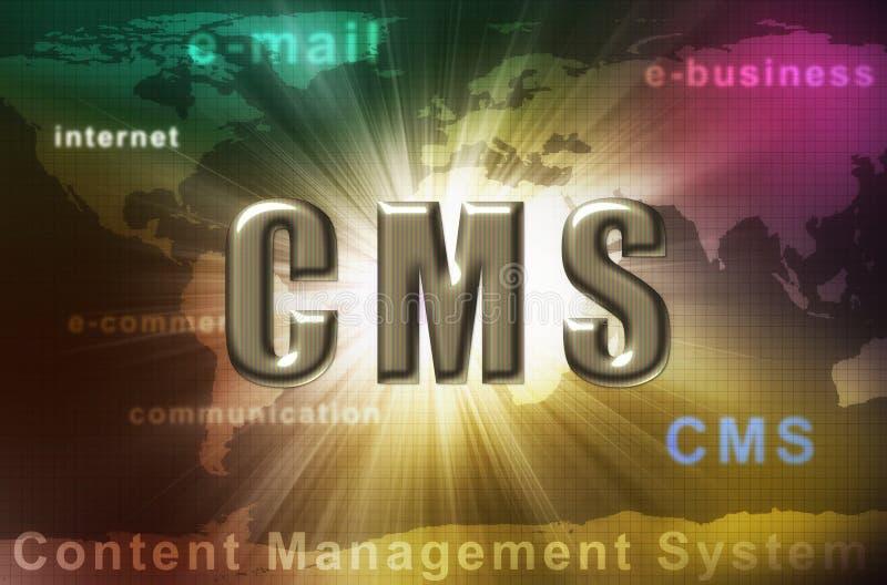 content administrationssystem för cms stock illustrationer