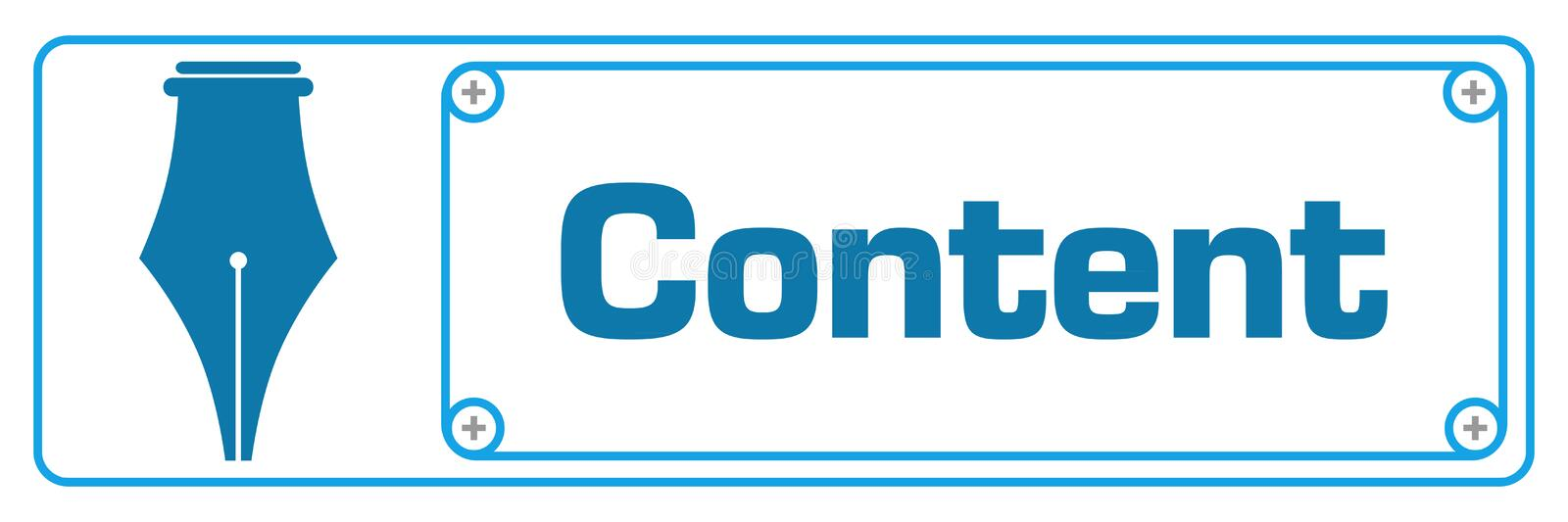 Content Blue Horizontal Border royalty free illustration