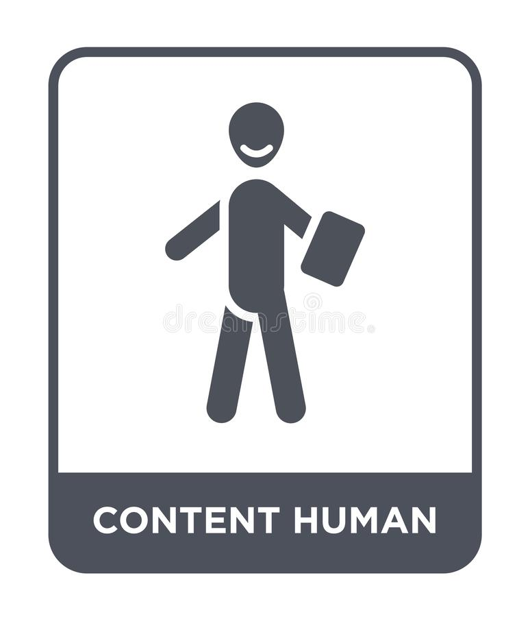 content human icon in trendy design style. content human icon isolated on white background. content human vector icon simple and royalty free illustration