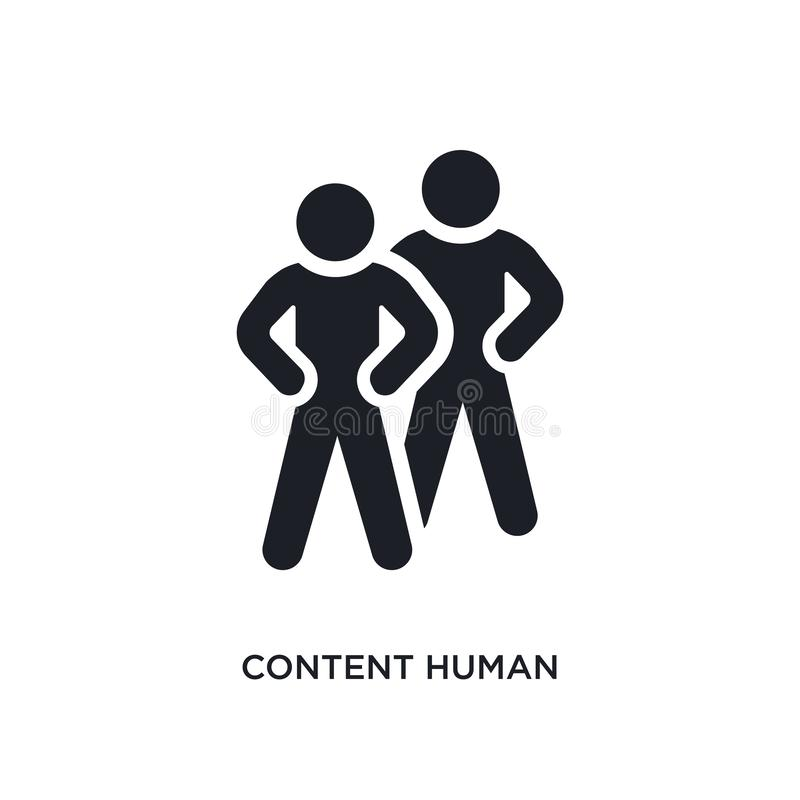 content human isolated icon. simple element illustration from feelings concept icons. content human editable logo sign symbol royalty free illustration