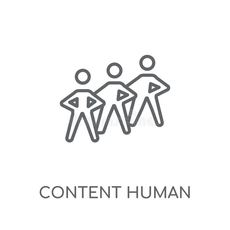 content human linear icon. Modern outline content human logo con stock illustration