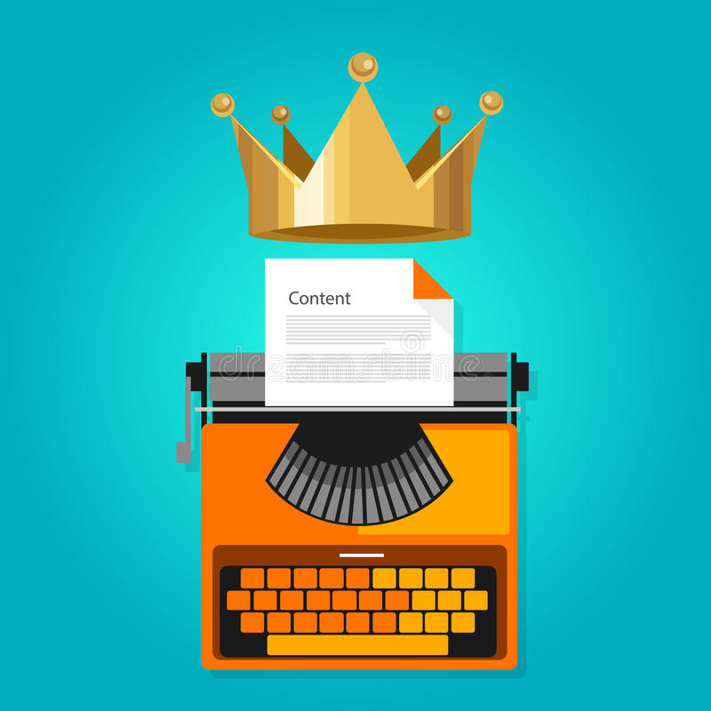 Content is king seo web optimization royalty free illustration