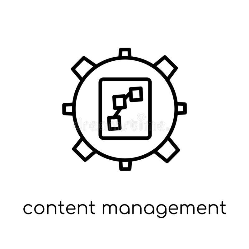 Content Management icon from Marketing collection. vector illustration