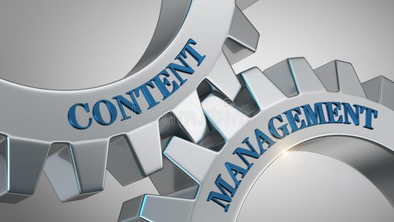 Content Management-Konzept vektor abbildung