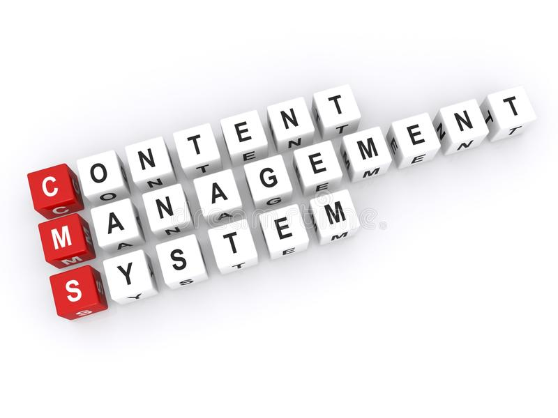 Content management system vector illustration