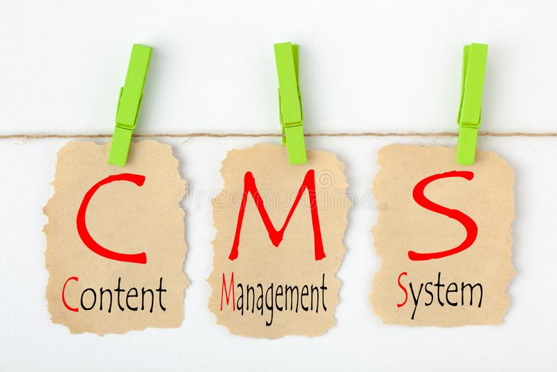 Content Management System CMS royalty free stock photo