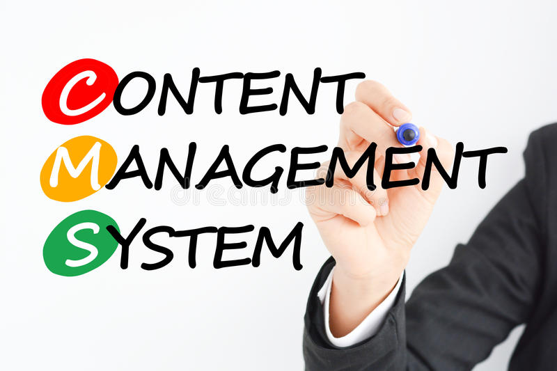 Content management system or CMS royalty free stock photo