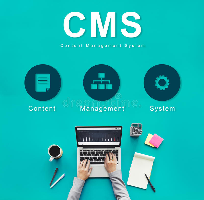 Content Management-System-Strategie CMS-Konzept stockbild