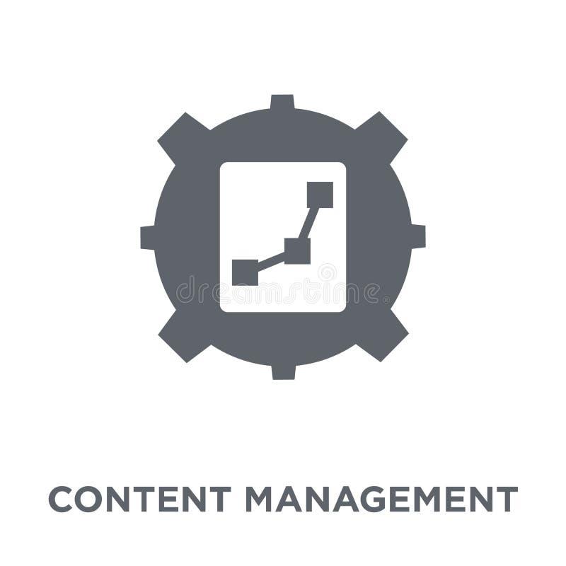Content managementpictogram van Marketing inzameling royalty-vrije illustratie