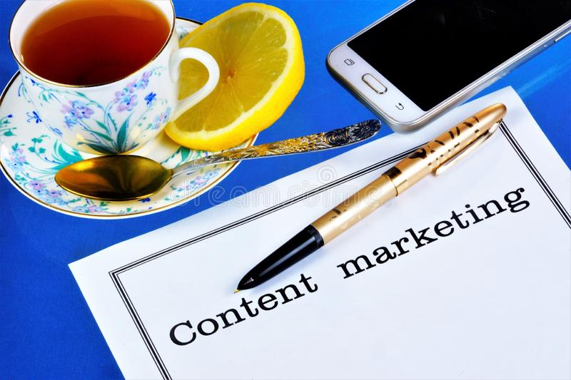 Content marketing—a set of methods of dissemination of relevant useful information for the consumer in order to gain trust and. Attract customers stock photography