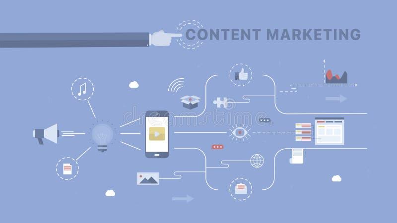 Content Marketing background. royalty free illustration