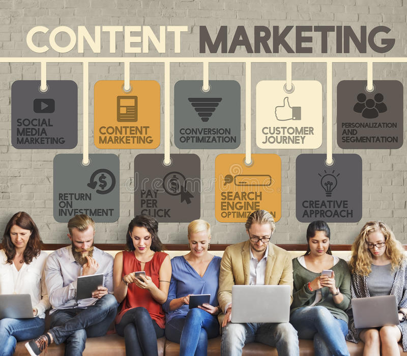 Content Marketing Blog Marketing Advertise Concept royalty free stock photography