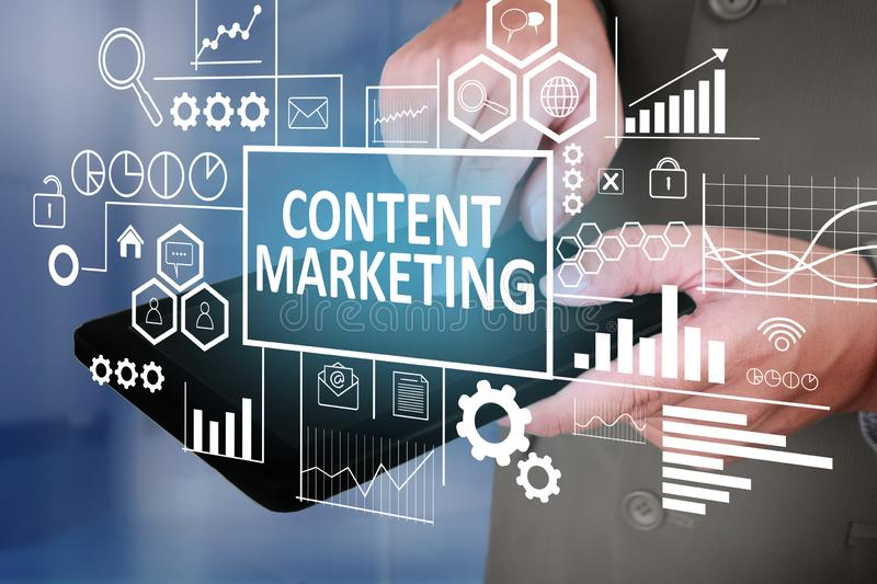 Content Marketing in Business Concept stock photos