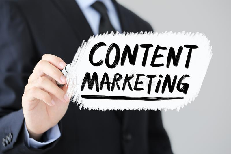 Content Marketing Business Concept stock image