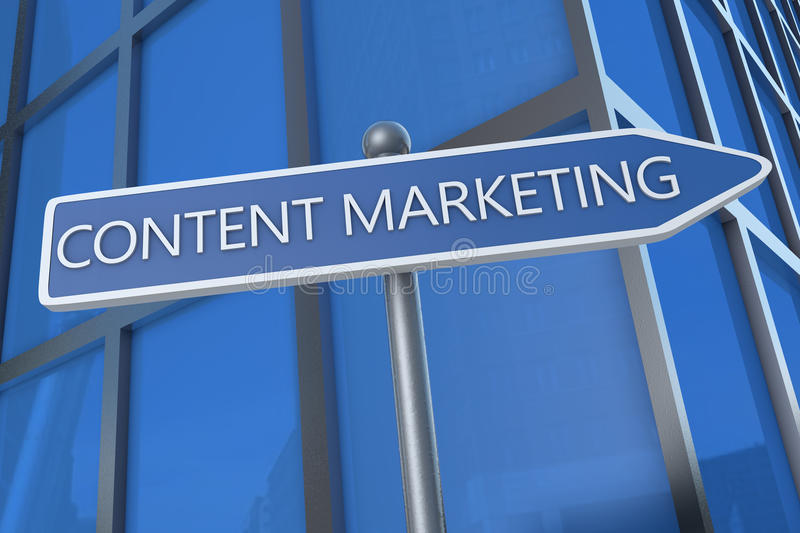 Content Marketing vector illustration