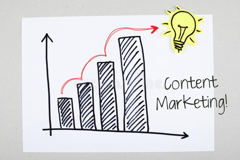 Content Marketing Phrase with Increasing Seo Sales royalty free stock photo